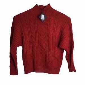 Women's Plus Size Mock Turtleneck Pullover Sweater